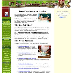 Free Fine Motor Activities To Help Your Child!