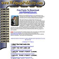 Free Fonts - 6500 Free TTF Fonts (X)