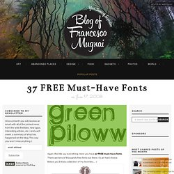 37 FREE Must-Have Fonts