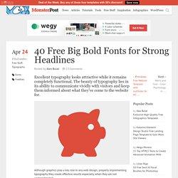 40 Free Fonts for Big Bold Headlines