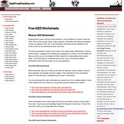 ged writing worksheets What the ged essay is like in part ii of the language arts, writing test, you will have 45 minutes to write a well-developed essay on an assigned topic.