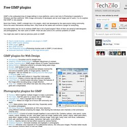 Download free GIMP plugins (40+ plugins)