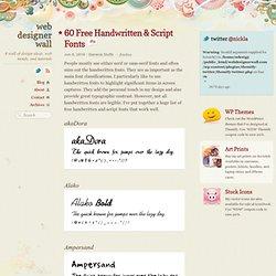 60 Free Handwritten & Script Fonts