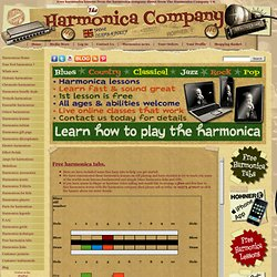 Free harmonica lessons from the harmonica company