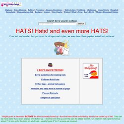 Free Hat Patterns