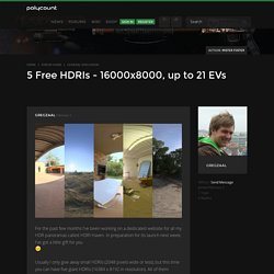 5 Free HDRIs - 16000x8000, up to 21 EVs