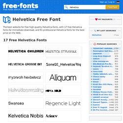Free Helvetica Fonts