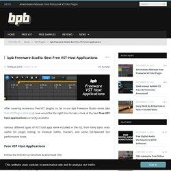 Free VST Host Application Roundup!
