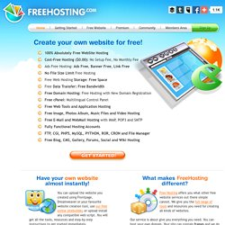 Free Web Hosting - No purchase required.