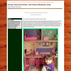 Free Barbie Doll House Plan - How To Build A Wooden Doll House