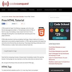 Free HTML Tutorial
