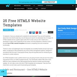 25 Free HTML5 Website Templates