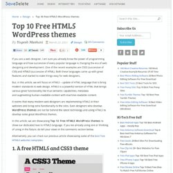 Top 10 Free HTML5 WordPress themes