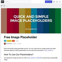 Free Image Placeholder - DEV