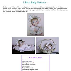 Free 8 Inch Cloth Baby Doll Pattern
