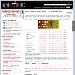 Free iPhone Ringtones: Loud And Clear