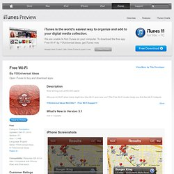 Free Wi-Fi for iPhone, iPod touch, and iPad on the iTunes App Store