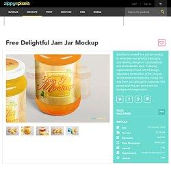 Free Jam Jar Mockup PSD