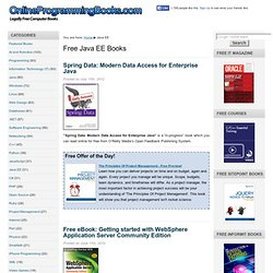 Free Java EE eBooks and Online Books