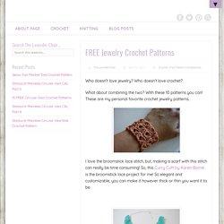 10 FREE Crochet Jewelry Patterns