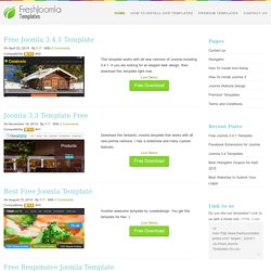 Free Joomla 1.7 and 2.5 Templates - Fresh Templates