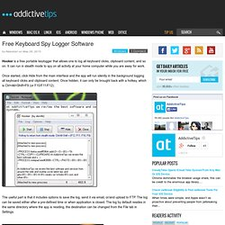 Free Keyboard Spy Logger Software