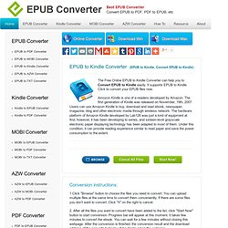 Free EPUB to Kindle Converter, Convert EPUB to Kindle, EPUB to Kindle