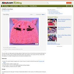 Cat Hat - Free Knitting Pattern for a Cat Hat for a Child