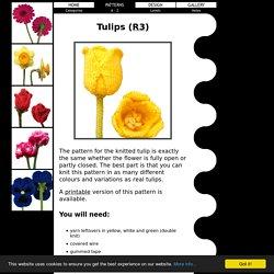 Free Knitting Patterns - Tulips