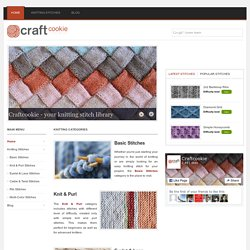 Free Knitting Stitch Library