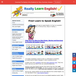 Free! Learn to Speak English!