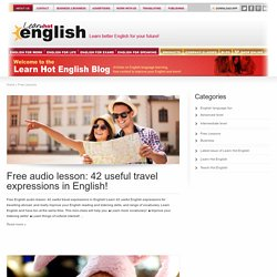 Learn Hot English - Free Lessons