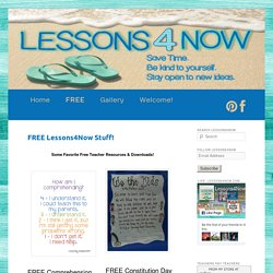 FREE Lessons4Now Stuff! - Lessons4Now