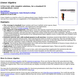 Free Linear Algebra textbook