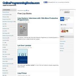 Free Lisp eBooks and Online Books