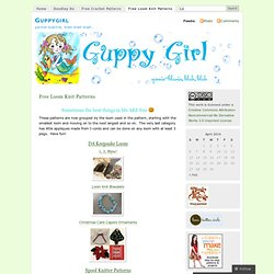 Free Patterns « Guppygirl