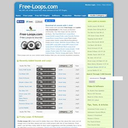 Free-Loops.com | Free Drum Loops Wav MP3 Aif and Midi Sound Loops