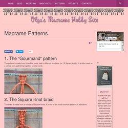 Free macrame patterns