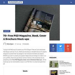 37 Free PSD Magazine, Book, Cover & Brochure Mock-ups