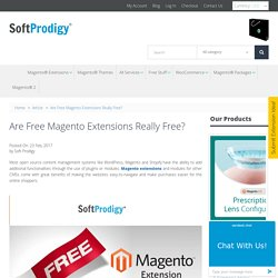 Are Free Magento Extensions Really Free?