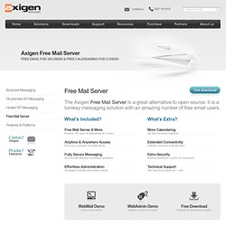 Free mail server software for home and small businesses - AXIGEN Office Edition