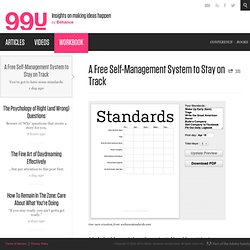 A Free Self-Management System to Stay on Track