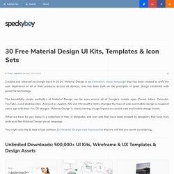 30 Free Material Design UI Kits, Templates & Icon Sets