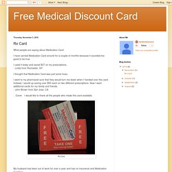 Free Medical Discount Card: Rx Card
