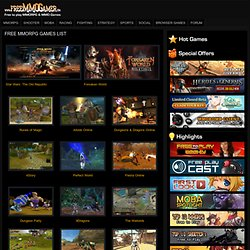 Free MMORPG Games List