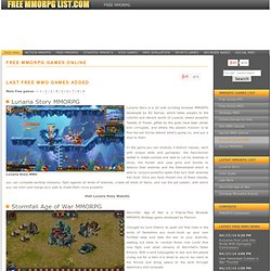 Free MMORPG List - Free MMORPG Online - mmorpg games - Free To Play Games