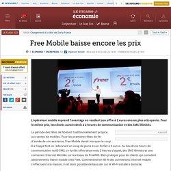 Sociétés : Free Mobile baisse encore les prix