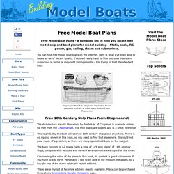Free Model Boat Plans - Where to Get Them.