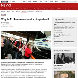 Why is EU free movement so important? - BBC News