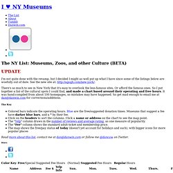Free New York City Museums and Culture at I Heart NY Museums
